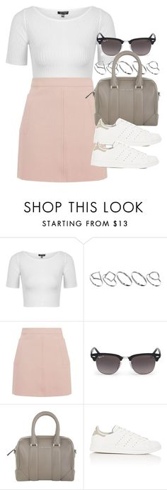 """Style #10882"" by vany-alvarado ❤ liked on Polyvore featuring Topshop, ASOS, Ray-Ban, Givenchy and adidas"
