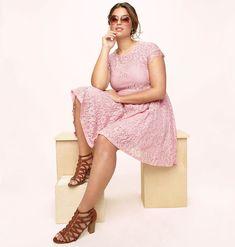 20af86f5ee20a Illusion Lace Skater Dress-Plus Size Dress-Loralette Skater Dress, High Low,