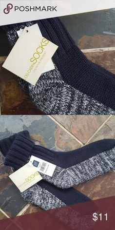 NWT GAP Log Cabin Socks Cozy blue and white log cabin socks. NWT GAP Accessories Hosiery & Socks