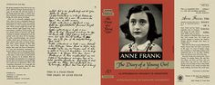 Anne Frank: The Diary of a Young Girl by Anne Frank Doubleday, first printing. Miniature Dolls, Miniature Tutorials, Book Jacket, Book And Magazine, Anne Frank, Book Making, Mini Books, Dollhouse Miniatures, Childrens Books