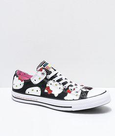 b937965e77 Converse x Hello Kitty Chuck Taylor Black   White Shoes