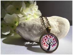 Collana bronzo albero della vita,medaglione bronzo albero della vita,ciondolo bronzo con cabochon albero della vita,bohochic,spiritual zen di IFilidelTesoro su Etsy