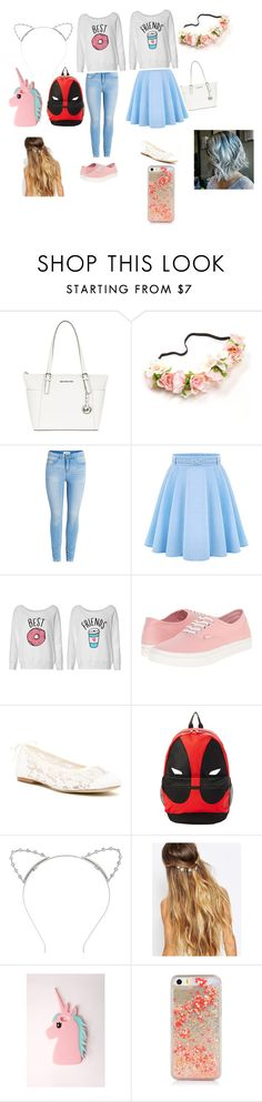 """""""Day out with bestie 4beeeeena"""" by moomintheduck ❤ liked on Polyvore featuring MICHAEL Michael Kors, WithChic, Vans, Soludos, Lipsy, Johnny Loves Rosie and Missguided"""