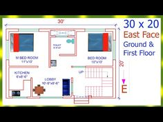30x20 EAST FACE VASTU | घर का नक्शा | Makan ka Naksha | - YouTube 20x30 House Plans, House Design Photos, How To Plan, Face, Youtube, The Face, Faces, Youtubers, Youtube Movies
