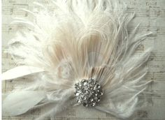 Check out this item in my Etsy shop https://www.etsy.com/listing/167034054/fascinator-feather-hair-clip-wedding