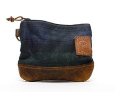 Waxed Canvas Zippered Golf Valuables Field Pouch in Black Watch Tartan personalized monogrammed Golf Gifts For Men, Waxed Canvas, Embossed Logo, Vegetable Tanned Leather, Tan Leather, Bag Making, Tartan, Monogram, Trending Outfits