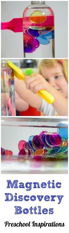 Magnetic Discovery Bottles by Preschool Inspirations