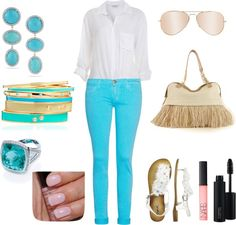 Shades of blue, created by kimbee22 on Polyvore