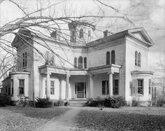 "The Cooleemee Plantation House, is a house located near Mocksville, on the Yadkin River in Davie Co., North Carolina. The house is an ""Anglo-Grecian Villa"", built in the shape of a Greek cross between 1853-1855 by Peter & Columbia Stuart Hairston. The house is built from approximately 300,000 bricks made on site. Cooleemee Plantation was founded by Col. Jesse A. Pearson who took part in the capture of approximately 600 tribal Creek Indians during the War of 1812."