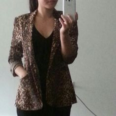 Selling this Leopard blazer.  New condition. Light weight. in my Poshmark closet! My username is: missjphillips. #shopmycloset #poshmark #fashion #shopping #style #forsale #Jackets & Blazers