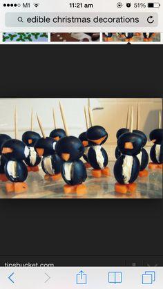 Cute penguin food decor