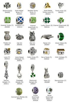 Craft & Hobby Miscellany - Celtic Charm Beads www.gaelsong.com