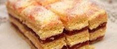 Krémové řezy s jahodovou náplní Baking Recipes, Dessert Recipes, Desserts, Czech Recipes, Ethnic Recipes, Y Recipe, Cake Bars, Mini Cakes, Food Dishes