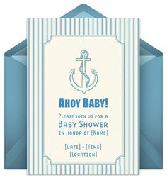 Huggies Baby Shower Planner. Nautical theme