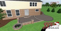 Multi Level Paver Patio With Sitting Walls By Bahler