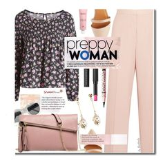Preppy by beebeely-look on Polyvore featuring STELLA McCARTNEY, Charlotte Russe, Le Métier de Beauté, Members Only, floral, preppy, floralprint, summerstyle and sammydress