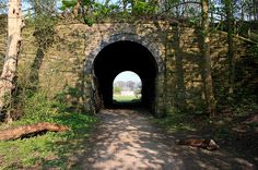 Old stone-built, Victorian tunnel, running under the long-disused East Lancs railway line. by JohnnyEnglish, via Flickr
