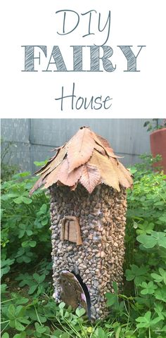 How to make a little fairy house with easy to find objects | Via www.sweethings.net