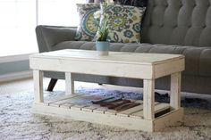 Discover more about Pallet DIY Coffee Table With Shelf, Rustic Coffee Tables, Coffee Table Design, Beachy Coffee Table, Pallet Furniture, Furniture Making, Living Room Furniture, Furniture Ideas, Coffee Table Inspiration
