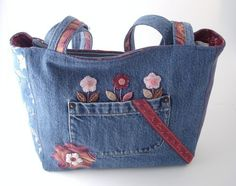 denim purses | Recycled denim purse MARLO | SMCDesigns - Bags & Purses on ArtFire