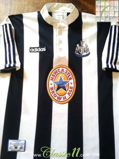 Relive Newcastle United's 1995/1996 season with this original Adidas home football shirt.