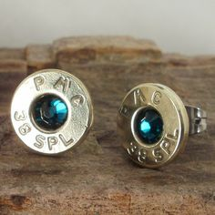Ok, this is my birhtday month, who's buying! - Bullet  Earrings   May Birthstone  Emerald  Ultra by ShellsNStuff, $14.99