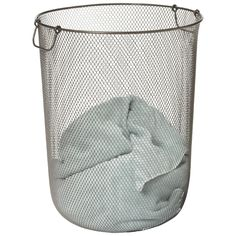 Industrial Mesh Hamper from The Container Store - need this for my boys' room!