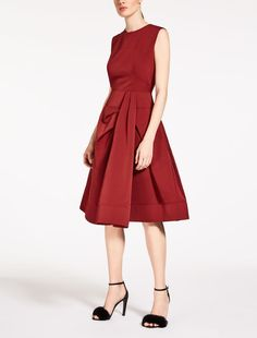 Max Mara JAGO ruby: Faille dress.