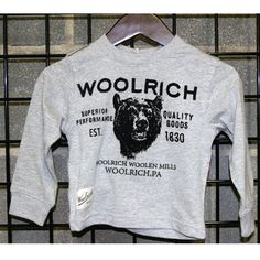 Woolrich Boys sizes 12m-24M long sleeve tee http://www.tradeguide24.com/3744___Woolrich_Boys_sizes_12m_24M_long_sleeve_tee_12pcs.__W1037_3___ #woolrich #fashion #stocklot #wholesale
