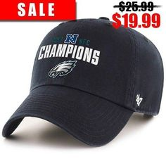 This Philadelphia Eagles NFC Champions Black Adjustable Dad Hat is on sale  now! Get it df27ddfa19bd