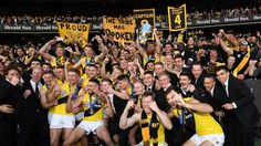 The Tigers won the flag with a young list, much like the Western Bulldogs of 2016 and Hawthorn of 2008 – both missed the . Richmond Afl, Richmond Football Club, Western Bulldogs, Partying Hard, How To Plan, Tigers, Australia, Yellow, News