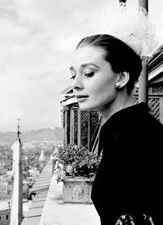 Audrey Hepburn in Rome, 1960.