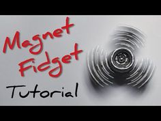 Learn How to make a magnetic fidget spinner from 1 magnet cube. It's a very simple and easy to make toy. Cool Shapes, Balls, Cube, Magnets, Make It Yourself, Simple, Youtube, How To Make, Youtubers