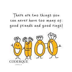 12.15.14 Good friends and good rings. #mondayswithasmile #misskarat