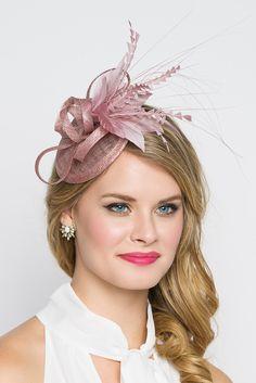 """Arianna"" Fascinator - Blush Pink"