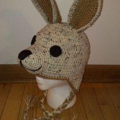 Image result for crochet kangaroo hat pattern free