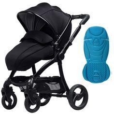 egg Stroller Black/Gotham Black With Deep Purple Seat Liner Best Twin Strollers, Baby Strollers, Babystyle Egg, Pushchair Travel System, Blue Liner, Baby Co, Baby Baby, Pram Stroller, Prams