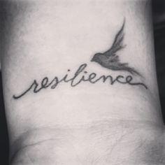 Resilience tattoo, wrist tattoo, bird tattoo