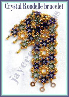 Crystal Rondelle bracelet PATTERN от jayceepatterns на Etsy