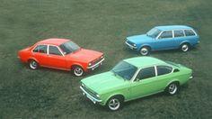 Opel - 1973 - Opel Kadett C:n kolme korimallia: sedan, farmari ja coupe, 1973–1979.