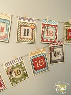 30 DIY Christmas Advent Calendars from chevron bags to magnetic boards!