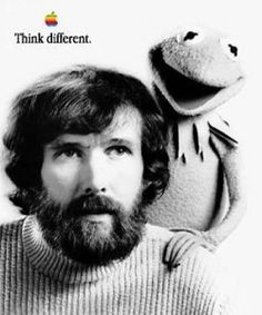 Jim Henson - I remember so clearly the day he died.  Such a loss!  (I have this poster.)