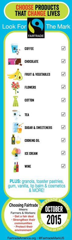 Weekend shopping? Remember to look for the #Fairtrade certified products on this list→ http://fairtradeamerica.org/fairtrade/find-the-mark