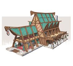 ArtStation - Esbatuan Architecture 01, Jourdan Tuffan