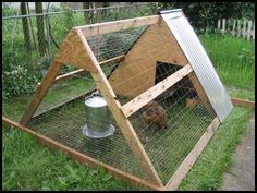 A frame chicken coop - easy, cheap, and quick!