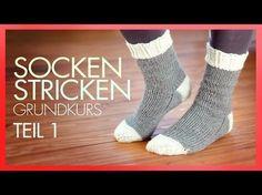 ▶ERLEDIGT- Socken Stricken mit Rundstricknadeln *TEIL 1 GRUNDKURS* - YouTube