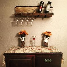 Wine and glass rack made in our shop!