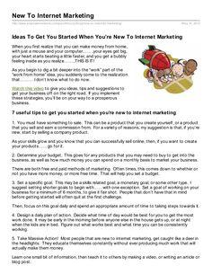 new-to-internet-marketing by Pam McCoy via Slideshare