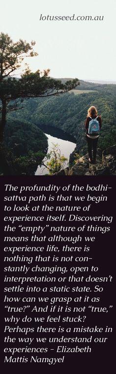 Elizabeth Mattis Namgyel Buddhist Zen quote by lotusseed.com.au