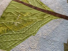 """""""Lindsay's Art Quilt"""" from Green Fairy Quilts"""